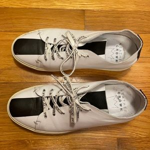 Leather Crown White Sneakers